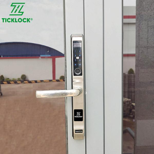 Khóa vân tay cho cửa nhôm xingfa Ticklock I500