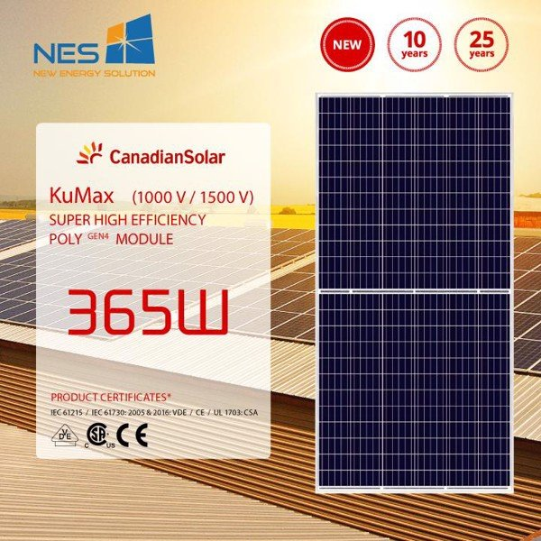 Canadian solar 365Wp half cells poly