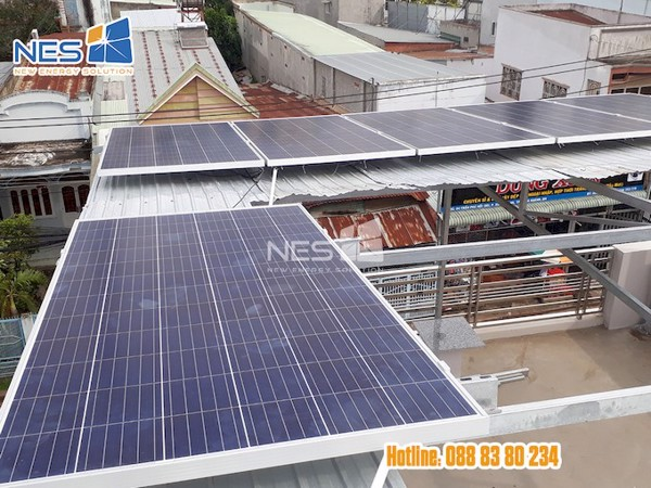 điện mặt trời hòa lưới 16 tấm pin