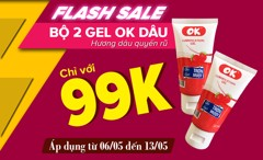 Flash sale bộ 2 gel OK dâu