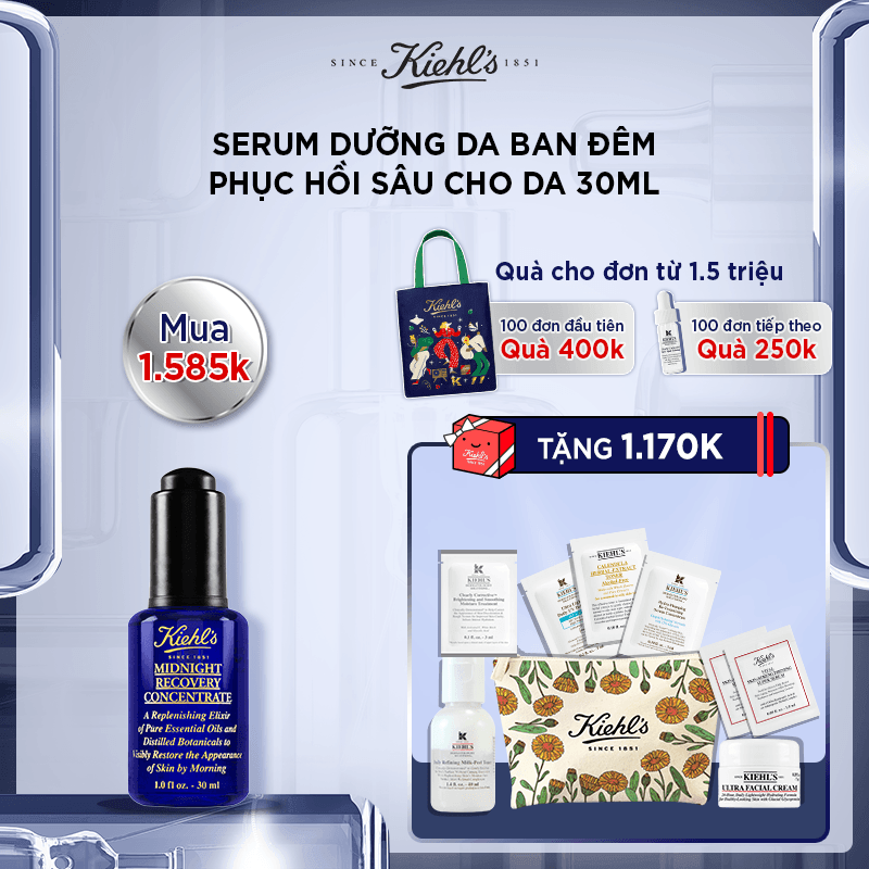Hannah Set: TINH DẦU MIDNIGHT RECOVERY CONCENTRATE 30ML