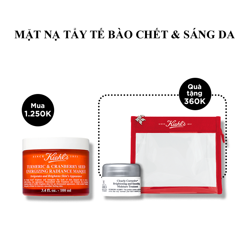 Mặt Nạ Nghệ Việt Quất Kiehl's Turmeric & Cranberry Seed Energizing Radiance Masque