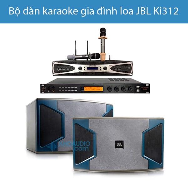 Dàn karaoke gia đình JBL loa KI312 cao cấp, hay, ghép chuẩn KI312PA2
