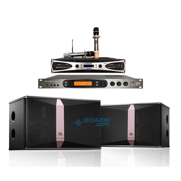 Dàn karaoke gia đình JBL loa KI510 cao cấp, hay, ghép chuẩn KI510PA3
