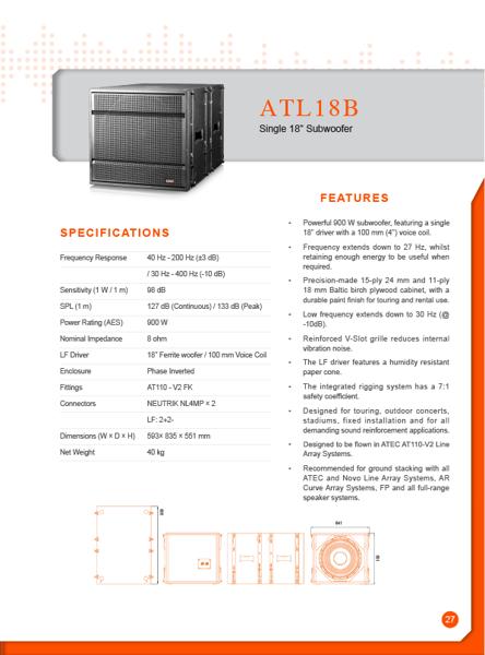 Loa sub Lax ATL18B chính hãng