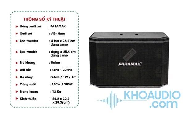 Dàn Karaoke Paramax BM 02 cao cấp