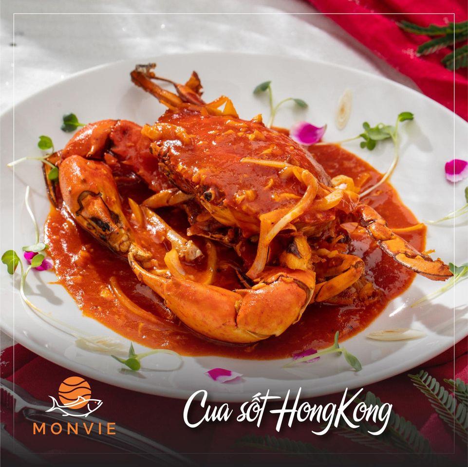 Món cua đặc trưng của Monvie Restaurant