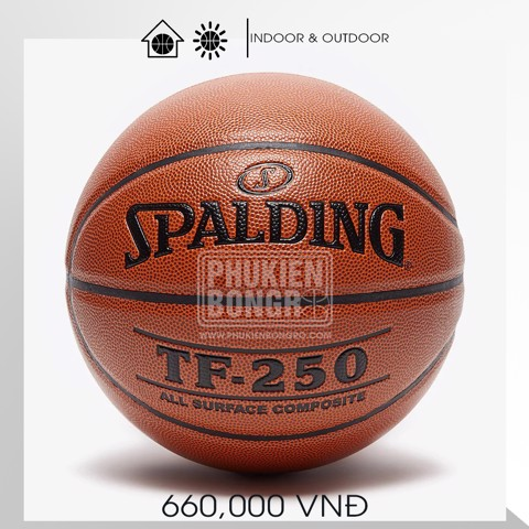 Bóng rổ Spalding TF-250 All Surface Indoor/Outdoor Size 6-7