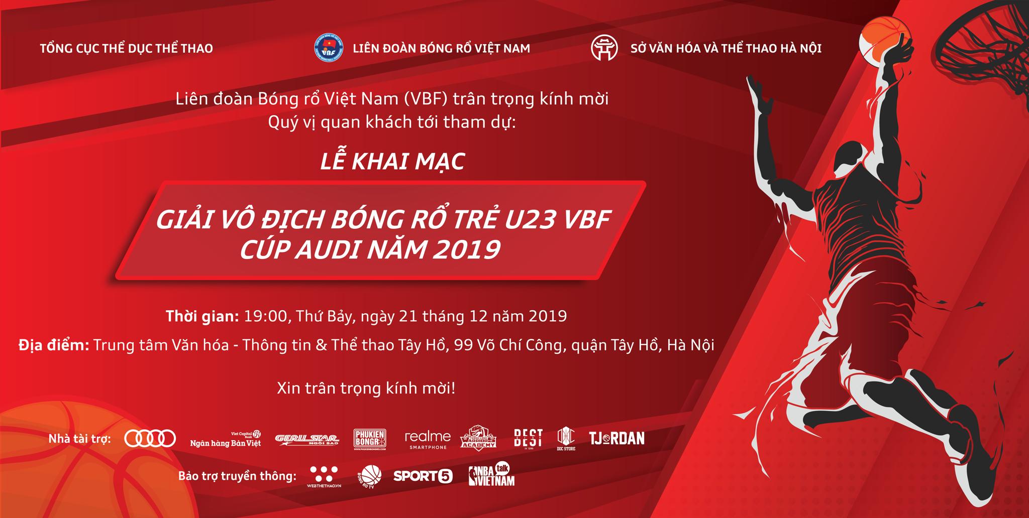 PHUKIENBONGRO.COM Đồng Hành Cùng Giải Vô địch bóng rổ trẻ U23 VBF - Cúp Audi năm 2019