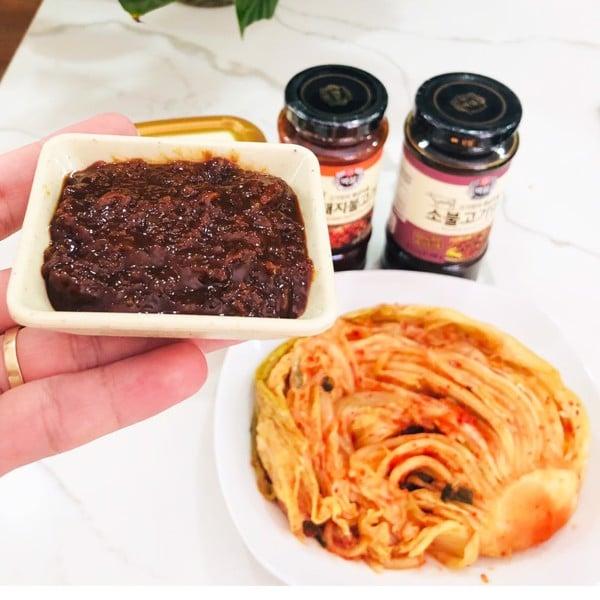 cách dùng Tương chấm thịt nướng