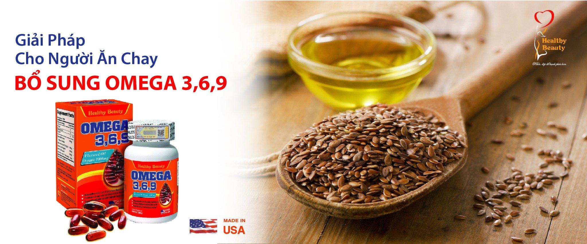 Healthy Beauty Omega 3,6,9 giải pháp cho người ăn chay