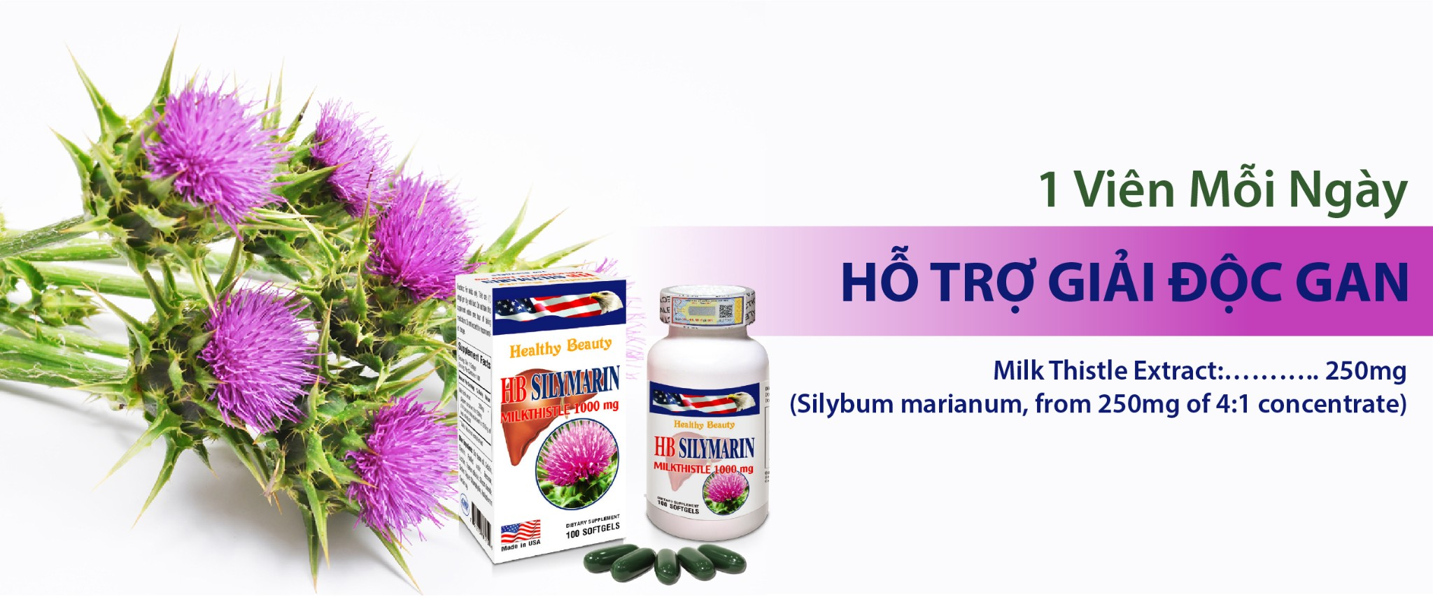 Healthy Beauty HB Silymarin 1000mg milkthistle extract