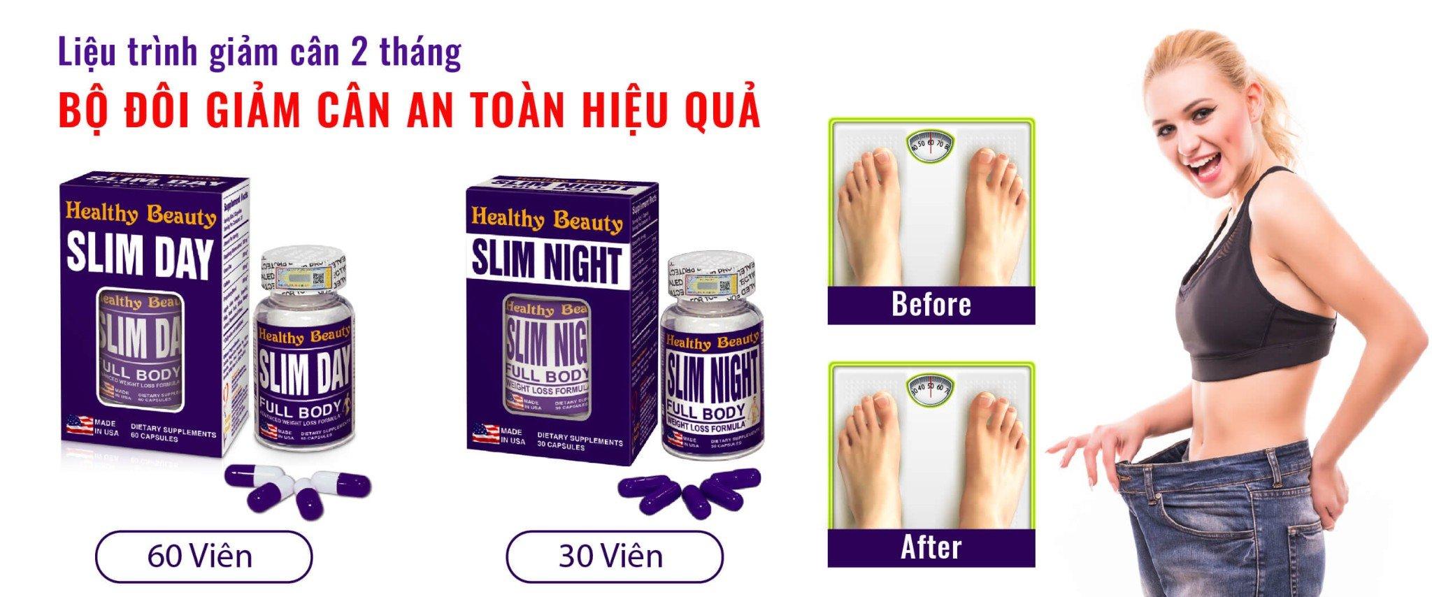 Bộ đôi giảm cân an toàn hiệu quả Slim Day - Sim Night