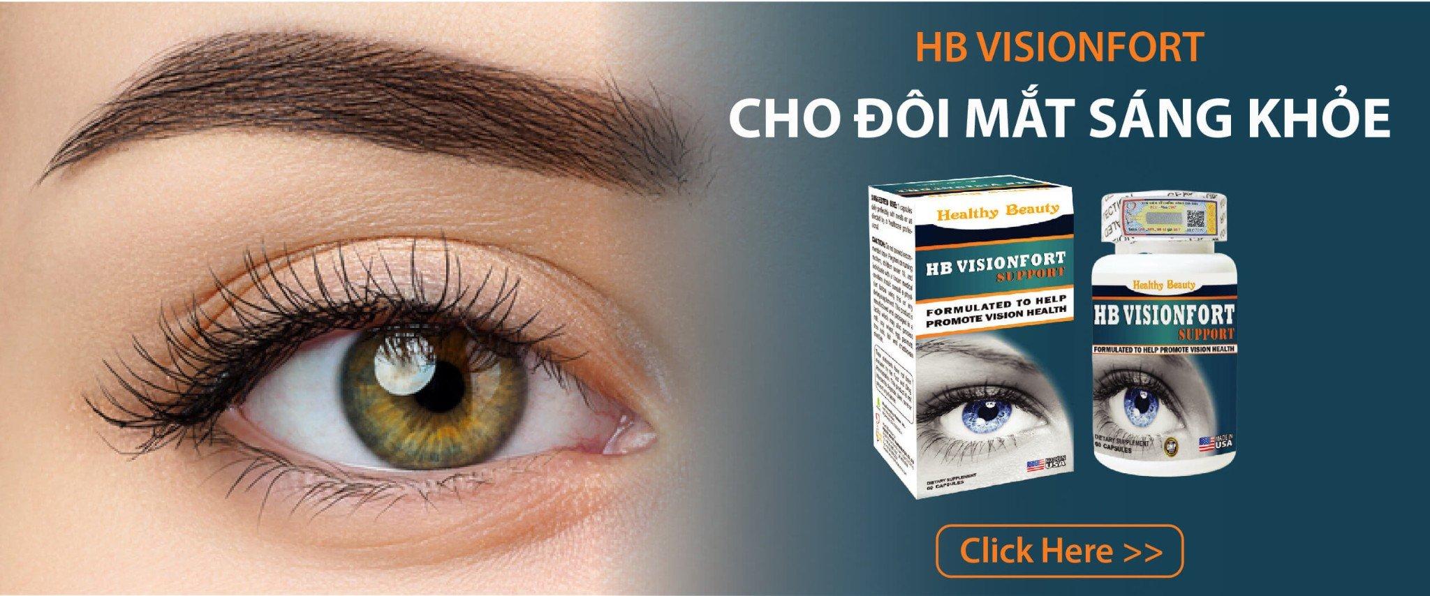 HB Vision Fort giúp mắt sáng khỏe