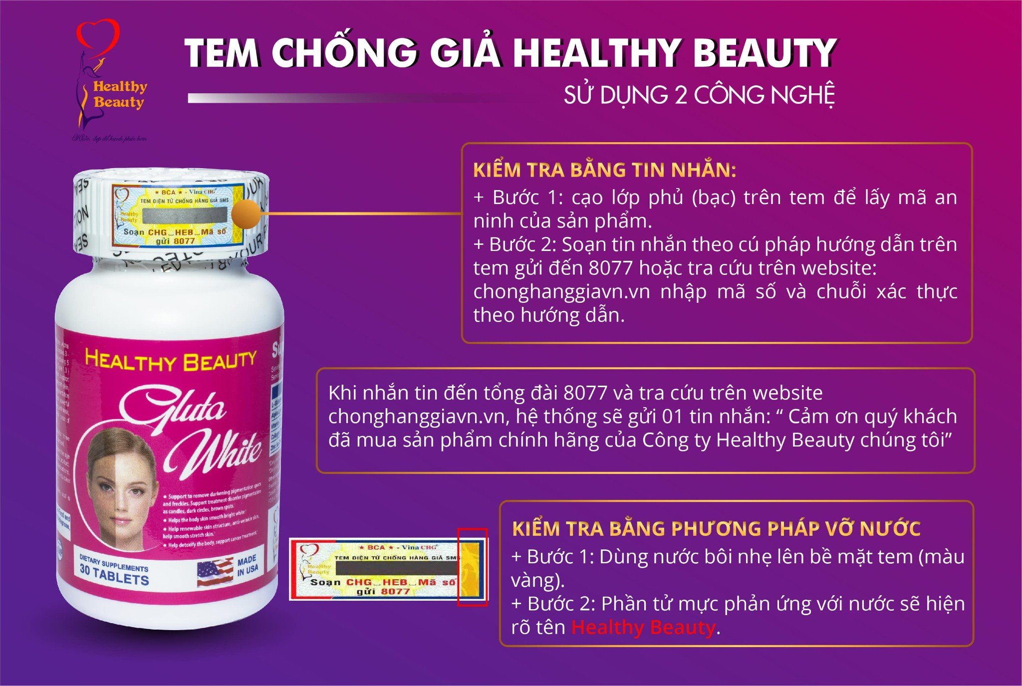 Tem Chống Giả Healthy Beauty
