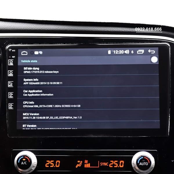 Màn Hình Android Mitsubishi Outlander 2020 - 2021 Cấu Hình Cao Giá Tốt