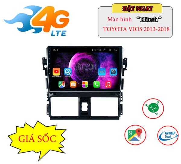 Màn hình Android Toyota Yaris 2012 - 2018 Hitech H500 Cắm Sim 4G