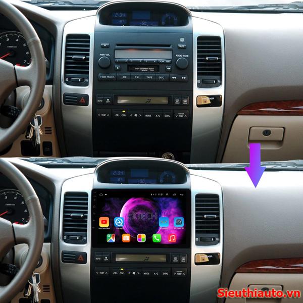 Màn hình Android Toyota Land Cruiser Prado 2004-2009 Hitech H500