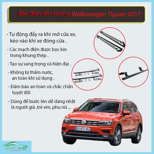 Bậc Điện Lên Xuống Volkswagen Tiguan 2017