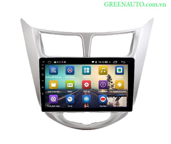 Màn Hình Android Hyundai Accent 2010-2015  Hitech Pro Cắm sim 4G
