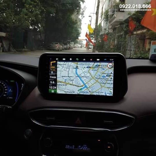 Màn Hình DVD Android Hyundai Santafe 2020 - 2021 Cấu Hình Cao Giá Tốt
