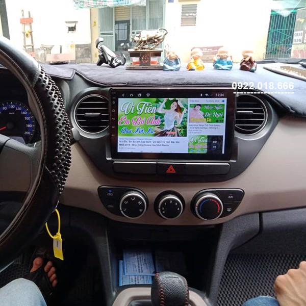 Màn Hình DVD Android Hyundai I10 2020 - 2021 Cấu Hình Cao Cắm Sim 4G