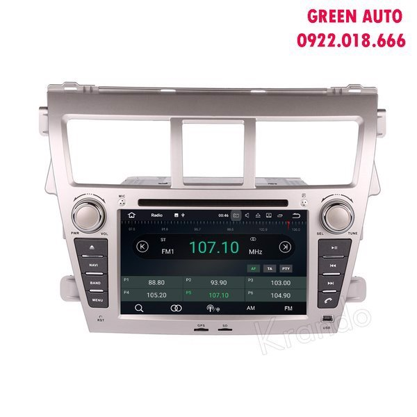 DVD Android cho xe Toyota Yarit 2005-2011