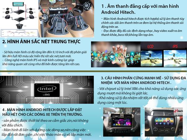 Màn hình Android Honda Civic 2007-2011 Hitech H500 Cắm Sim 4G