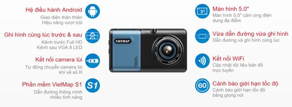 Vietmap A50 - Camera hành trình dẫn đường vietmap
