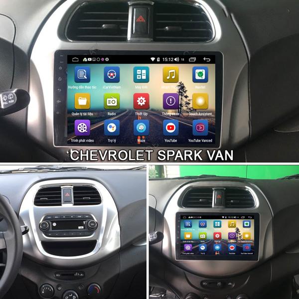 Màn Hình Android Chevrolet Spark 2018-2019  Hitech Pro Cắm Sim 4G