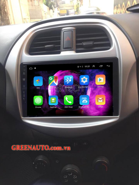 Màn hình Android Chevrolet Spark  2018-2019  Hitech H500 Cắm Sim 4G
