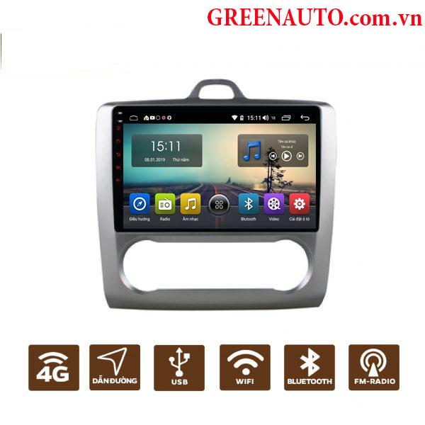 Màn Hình Android Ford Focus 2009-2011 Hitech Pro Cắm Sim 4G