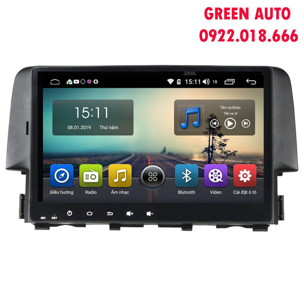 Màn Hình Android Honda Civic 2016-2018 Hitech Pro Cắm sim 4G