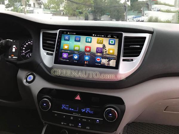 Màn Hình Android Hyundai Tucson 2014-2018  Hitech Pro Cắm sim 4G