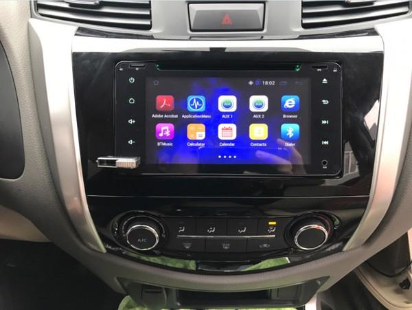 DVD Android cho xe Nissan Navara