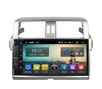 Màn Hình Android Toyota Land Cruiser Prado 2014-2018 Hitech Pro Cắm Sim 4G