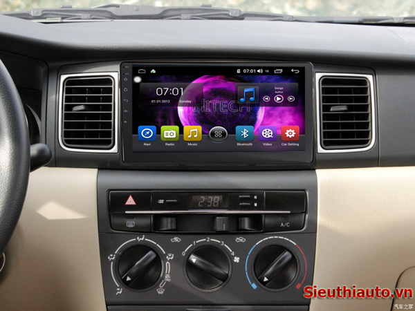 Màn Hình Android Toyota Altis 2002-2008 Hitech Pro