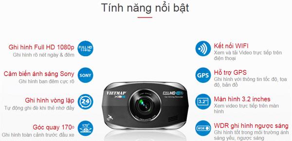 Vietmap X9S-Cam Hành trình Xem trực tiếp trên điện thoại