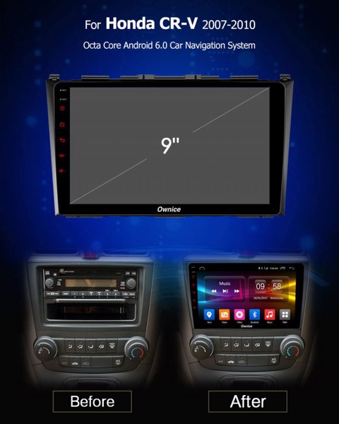 DVD Ownice cho xe Honda CRV