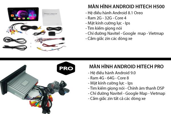 Màn hình Android Nissan Sunny 2014-2018 Hitech H500 Cắm Sim 4G