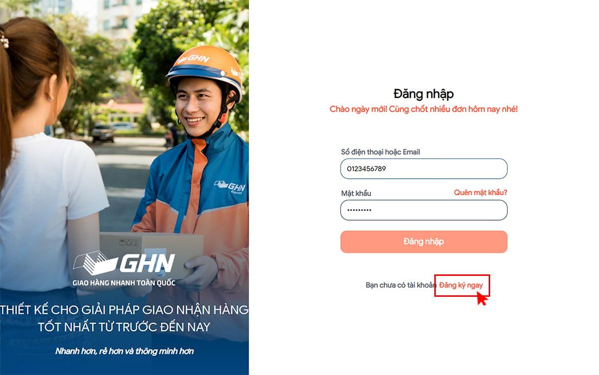 Hướng dẫn trải nghiệm phiên bản web khachhang.ghn.vn