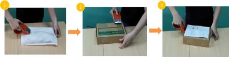Đóng gói bằng hộp catton và băng dính OPP