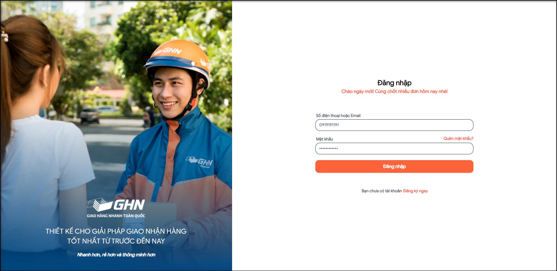 Giao hàng thả ga – chọn ngay GHN trên phần mềm quản lý bán hàng Trustsales.vn