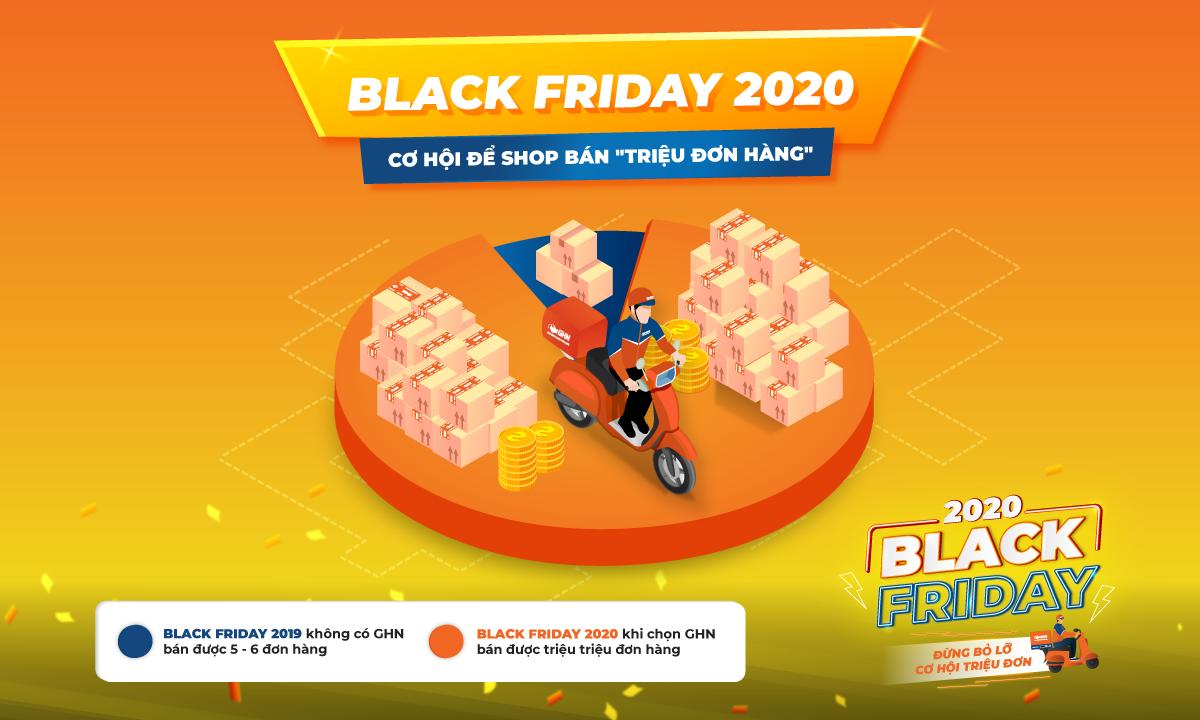 """Black Friday 2020 - Cơ hội để Shop bán hàng """"triệu đơn"""""""