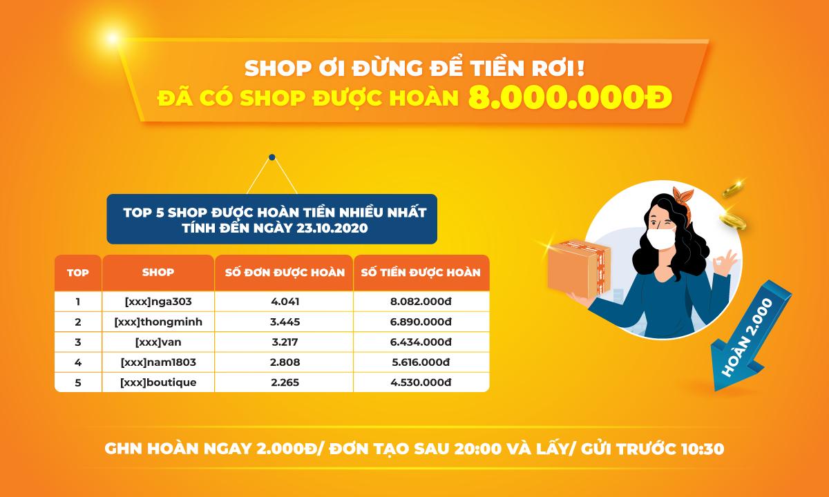 Đã có Shop được hoàn 8.000.000đ - Lên Đơn Ngay