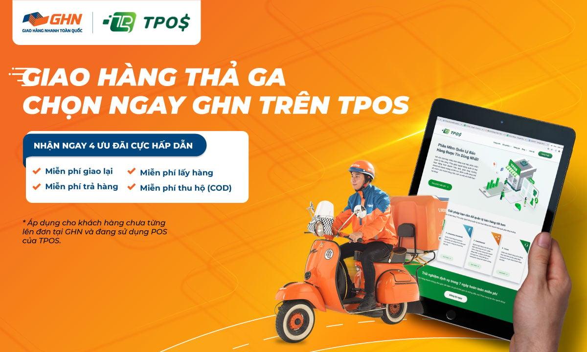 Chọn ngay GHN trên phần mềm quản lý bán hàng online TPOS