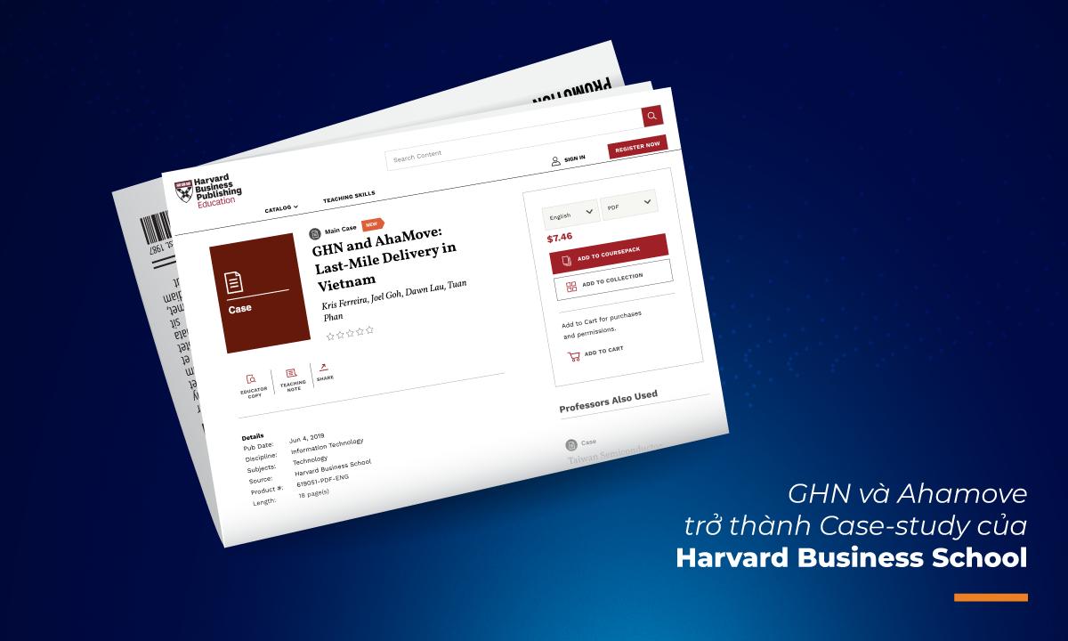 GHN và AhaMove trở thành case-study của Harvard Business School về những cải tiến trong lĩnh vực Logistics