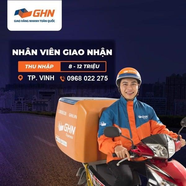 [GHN EXPRESS] NHÂN VIÊN GIAO HÀNG _ VINH