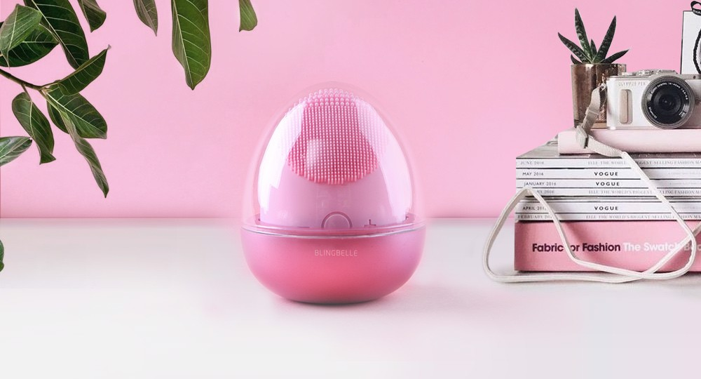 máy rửa mặt và massage 4 in 1 blingbelle beauty egg
