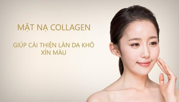 Làn da căng mịn, đầy sức sống với mặt nạ collagen